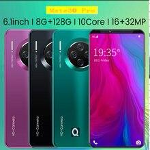 2021 Nieuwe Smartphone Lage Prijs Mate33Pro Android Smartphone 8 + 128G Ram 6.1 Inch Groot Scherm
