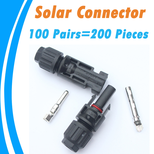 PowMr 100 Pairs TUV IP67 Solar Connectors Female Male 2.5 4.0 6.0 mm2 For PV System 30 Years Quality Warranty Solar Panel