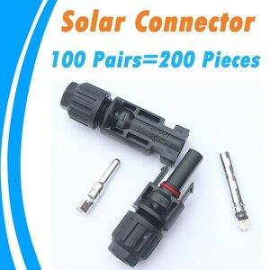 Image 1 - موصلات الطاقة الشمسية PowMr 100 زوج TUV IP67 أنثى ذكر 2.5 4.0 6.0 mm2 لنظام PV 30 سنة ضمان الجودة لوح شمسي