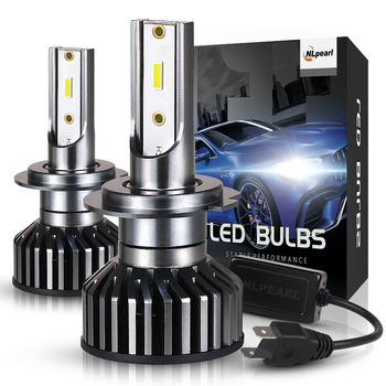 NLpearl 2x H7 Led Headlight Bulbs H7 Led Canbus H4 H11 H3 H1 9005/HB3 9006/HB4 9012 H8 12V 50W 12000LM Zes Chips Auto Headlamps txvso8 h7 led headlight 6000k 50w h4 h1 h11 9005 hb3 9006 hb4 10000lm canbus csp chips auto fog lamp bulbs car accessories 12v