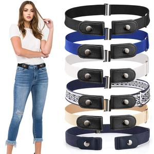 20 Styles Buckle-Free Waist Belt For Jeans Pants,No Buckle Stretch Elastic Waist Belt For Women/Men,No Hassle Belt DropShipping(China)