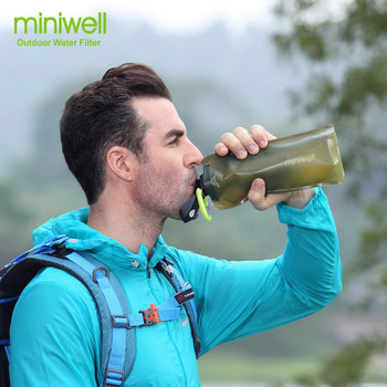 Survival Outdoor Camping & Hiking Portable Water Purification with bag Filtered Water On The Go 6