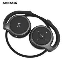 Arikasen a6 bluetooth fone de ouvido na orelha confortável sem fio fones microfone graves profundos 3d estéreo som bluetooth 5.0