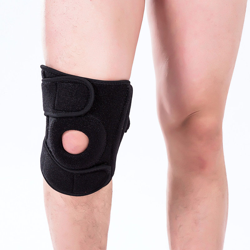 1PCS Adjustable Elastic Knee Support Brace Kneepad  Knee Pads Hole Sports Kneepad Safety Guard Strap For Running