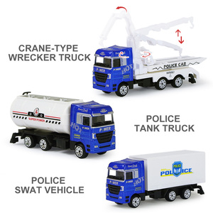Image 4 - 1 Pc Alloy Metal Car Model 5 Color Container Truck Diecast Model Kid Children Educational Toys Christmas Birthday Gift For Boys