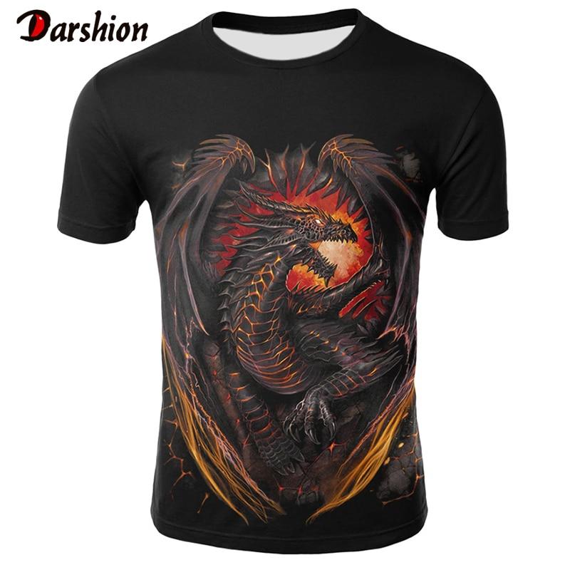 3D мужская футболка с принтом дракона, мужские футболки с 3D принтом, летняя популярная мужская рубашка, мужские свободные топы, модные мужские топы, футболка|Футболки|   | АлиЭкспресс