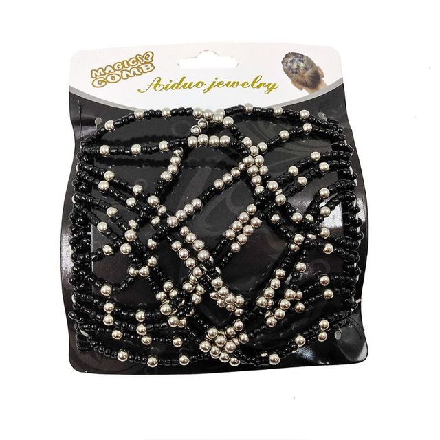 Faux Pearl Beads Decorative Hair Comb, Ponytail Holder