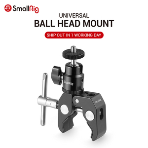 SmallRig DSLR Camera Super Clamp Holder w/ Ball Head Mount Hot Shoe Adapter For Gopro ,Camera Light , Monitor Attachment - 1124(China)