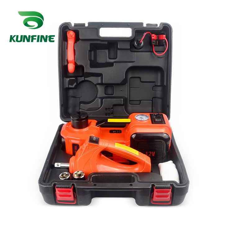 12V 5Ton Car Electric Tire Lifting Car Jacks Hydraulic Air Infatable Car Floor Jack With Impact Wrench And Tire Gauge Air Pump|  - title=