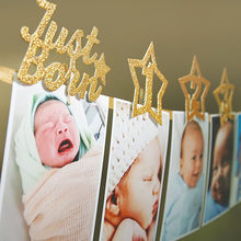 Accessories String Flag Wall Star Birthday Hanging Banner Set Party Decor Frame Paper Shower Baby Photo One Year Old Monthly(China)