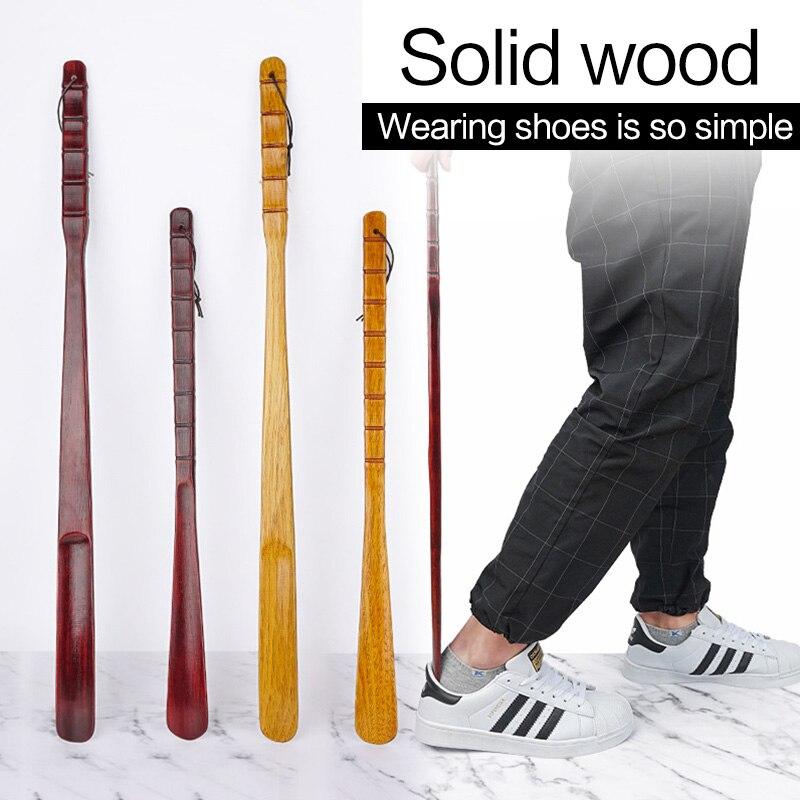 55cm 70cm Professional Wooden Shoe Horn Flexible Long Handle Shoehorn Useful Shoe Lifter Professional Shoe Spoon Home Tools