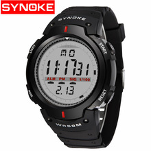 цена на Free shipping New Men Fashion Sport High quality ABS Plastic Waterproof Digital Analog Quartz Watch Fashion Accessories