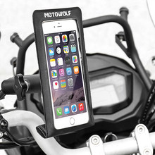 Motorcycle Bicycle Waterproof Rainproof Mobile Phone Navigation Bracket Mobile Phone Bag Clear Stable Touch Screen Outdoor(China)