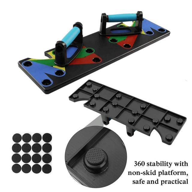 9 in 1 Push Up Rack Training Board ABS abdominal Muscle Trainer  Fitness Equipment 5
