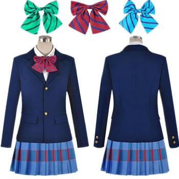 Anime Lovelive Love Live Cosplay Costume Kousaka Honoka Minami Kotori Ayase Eli Tojo Nozomi Nishikino Maki School Uniform anime lovelive card sr minami kotori cheerleading uniforms cosplay costume girls school cheerleading uniforms stocking gloves