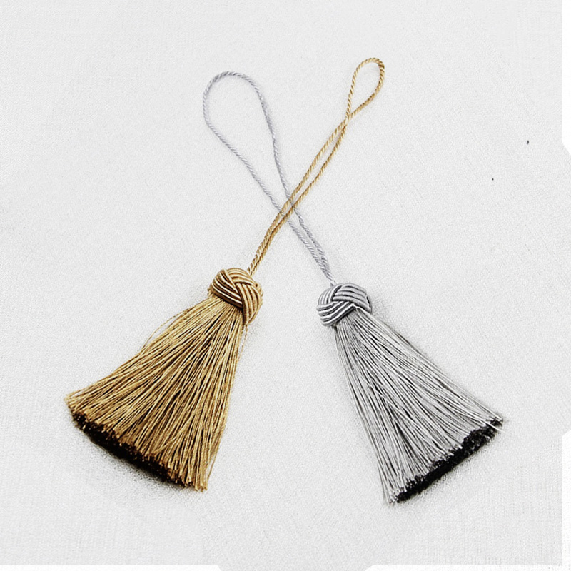 2Pcs/Lots Fluffy Cotton Tassel Hanging Rope Tassel for Sewing Clothing Curtain Fringe Home Decoration Craft Room Accessories
