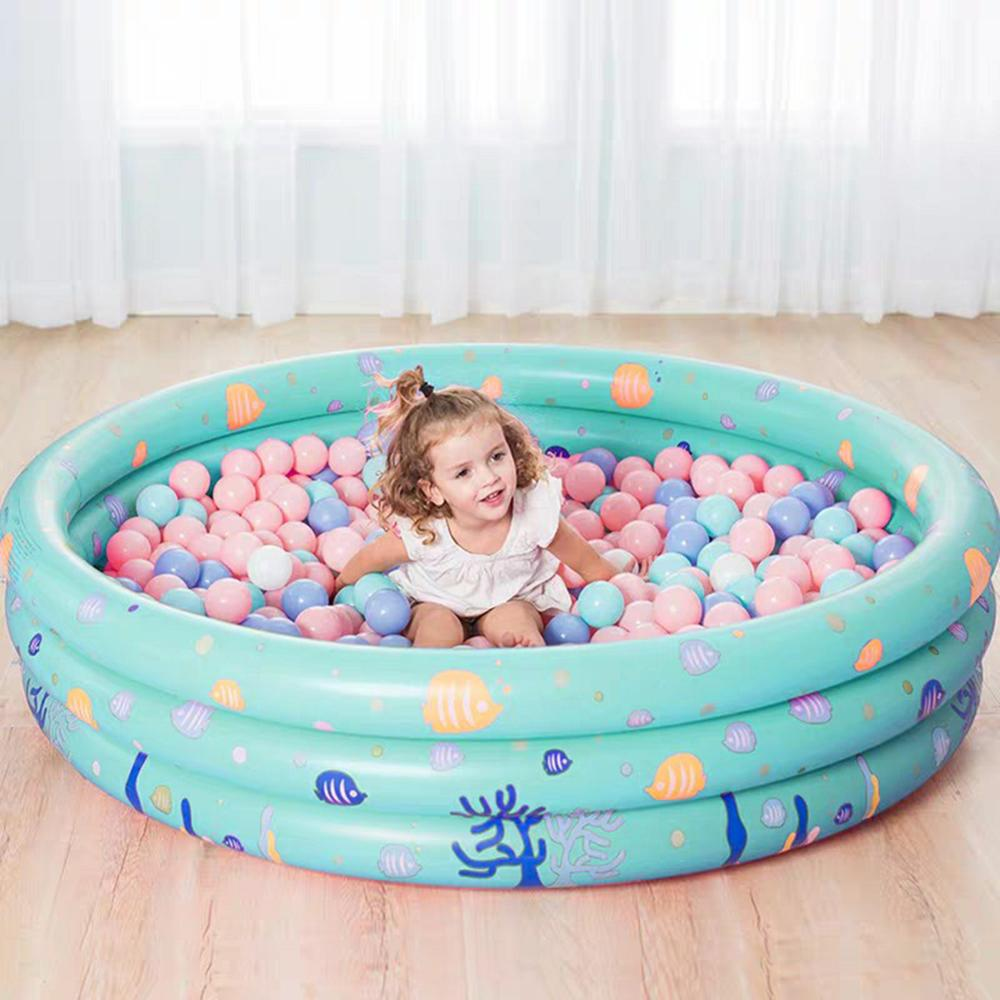 Baby Kids Inflatable Swimming Pool Safety Float Round Thickened Ocean Ball Pool Children's Fishing Paddling Pool Water Float