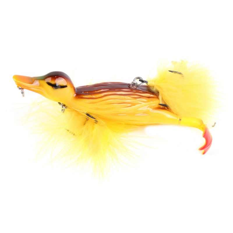 Duck Topwater Fishing Lure Floating Artificial Bait With Hooks Jointed 3D Swimbaits Plopping Splashing Feet Hard Tackle Geer
