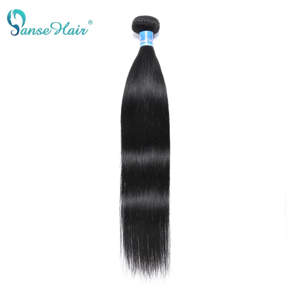 Panse Hair Malaysian Hair Human Hair Extensions Straight Hair Customized 8-30 Inches Non Remy Can Be Dye Color 1B 1PCS Per Lot