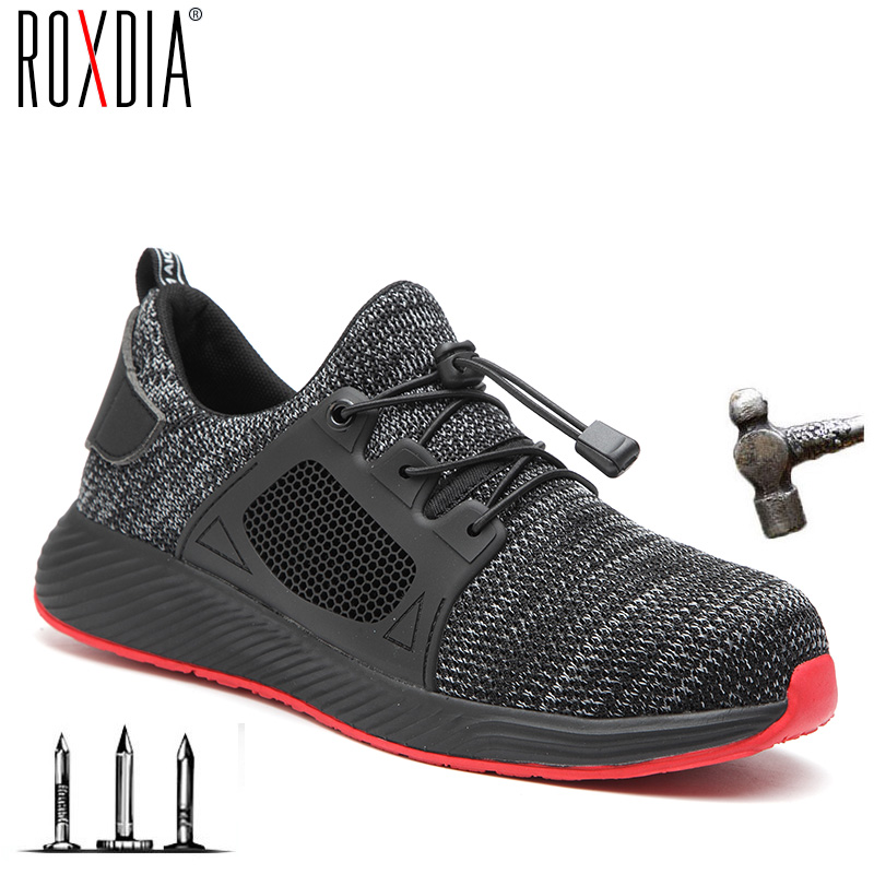 New Steel Toe Cap Men Work Shoes Safety Sneakers Light Weight Comfortable Male Boots Breathable Outdoor Shoe ROXDIA Brand RXM168
