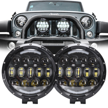 цена на 7 inch 105W led headlight high low beam led work light with DRL parking light For Truck SUV ATV 4WD Construction Camping