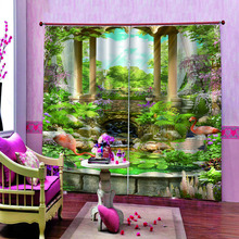 Customized size Luxury Blackout balcony thickened windshield blackout curtains beautiful scenery 3d curtain