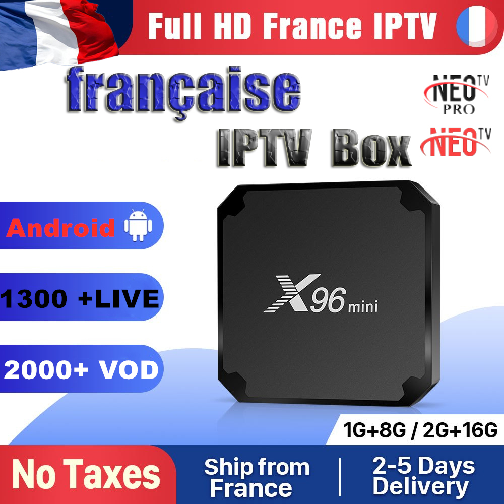 IPTV France Neotv 1 Year Code X96 Mini Android 7.1 TV BOX S905W X96Mini IPTV Belgium Netherlands Arabic France IPTV Subscription
