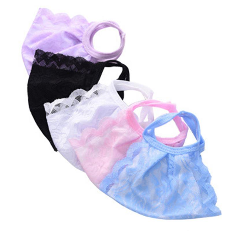 1pc Elegant Women's Mouth Mask Dual-Layer Lace Washable Face Mouth Mask Half Face Cover For Outdoor Clothing Accessories