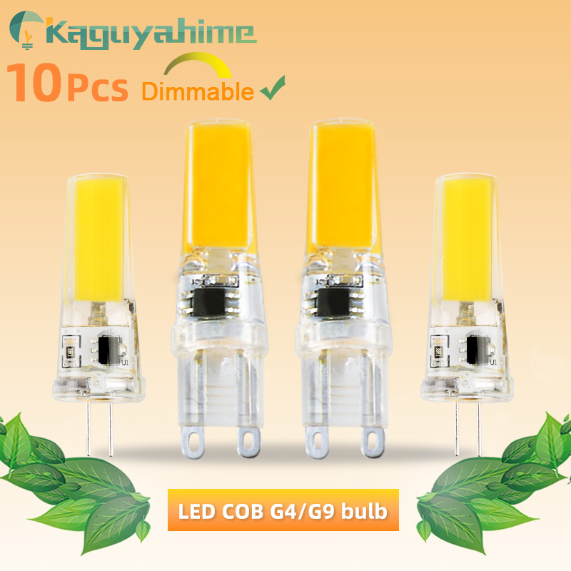 Kaguyahime 10Pcs <font><b>G9</b></font> G4 <font><b>LED</b></font> COB Bulb Dimmable Lamp AC <font><b>220V</b></font> 240V 6W <font><b>LED</b></font> G4 <font><b>G9</b></font> Lamp replace Halogen Bulb Lampada Bombillas <font><b>Ampoule</b></font> image