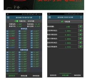 Image 5 - 1A 2A 5A 10A denge lityum pil aktif ekolayzır Bluetooth 2 ~ 24S BMS Li ion Lipo Lifepo4 LTO dengeleyici koruma levhası