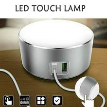 Bed Side Lamps LED Touch Bedside Lamp 12W Output Power Fast Charging Charger Light USB Table Desk Office Reading Home(China)