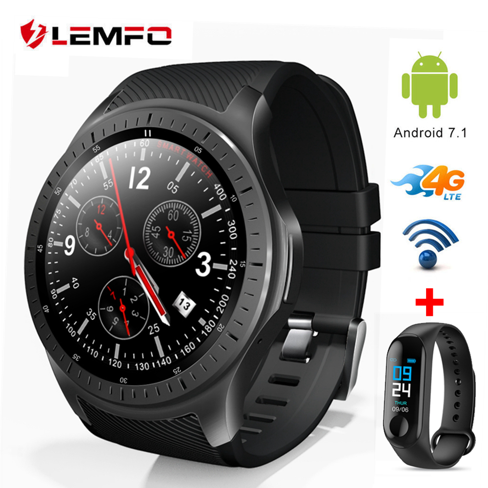 LEMFO LF25 Smart Watch Men Android 7.1 4G Independent Watch Phone MTK6739 1GB+16GB 600Mah Battery Heart Rate Monitor Smartwatch