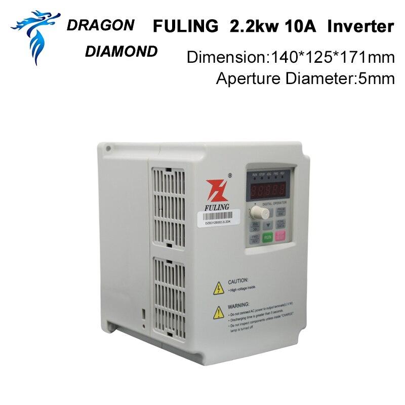 VFD keitiklis 2.2KW dažnio keitiklis 3P 220V / 110V išvestis CNC - Medienos apdirbimo mašinų dalys - Nuotrauka 2