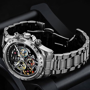 HAIQIN men watches 2020 luxury automatic top brand luxury mechanical wrist watches for men skeleton 5Br waterproof Reloj hombres