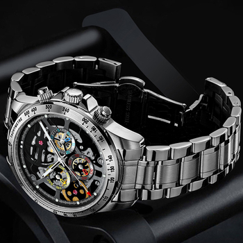 HAIQIN men watches 2020 luxury automatic top brand mechanical wrist for skeleton 5Br waterproof Reloj hombres
