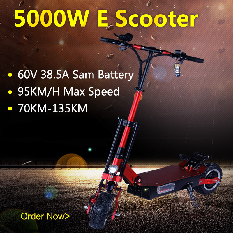 <font><b>60V</b></font> 38.5A <font><b>Samsung</b></font> Battery Electric Scooter 5000W Powerful 95KMH Electrico Motor Off Road Folding Adult Long Hoverboard E Scooter image