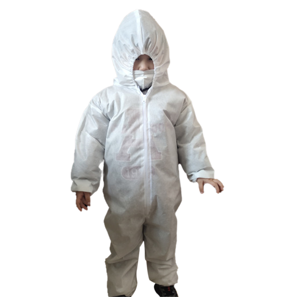 Protective Overalls With Hood For KIDS Disposable Protective Jumpsuit Antistatic Dustproof Protective Work Suit