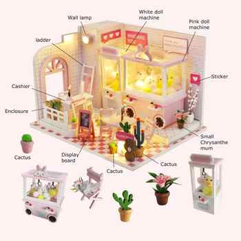 Furniture Diy Miniature DIY Creative Handmade Theme Assembly Building Model Toy Set Toys Gift for Girls