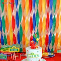 Nicro-rollo de papel crepé de colores, 3M, 25M, bricolaje, flor, boda, Baby Shower, Decoración de cumpleaños, suministros para fiesta # PG99