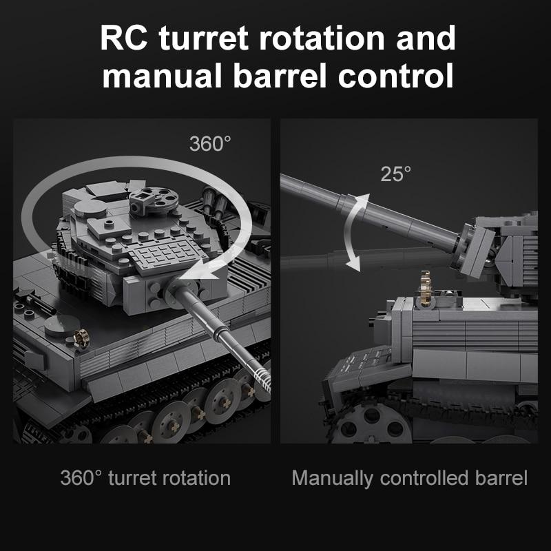 Cada C61071 Remote Control WW2 Military Army Tiger Tank