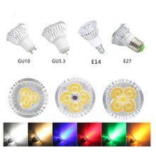 led bulb spotlight 3w 4w 5w GU10 GU5.3 E27 E14 110V 220V cold white nature white 4000k red green blue yellow dimmable spot light цена