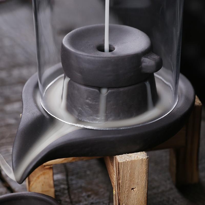 Fumaça cerâmica cachoeira queimador de incenso com