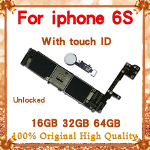 Original Unlocked For iPhone 6S Motherboard , For iPhone 6S Logic Mainboard Without/With Touch ID With IOS Test Good Working цена