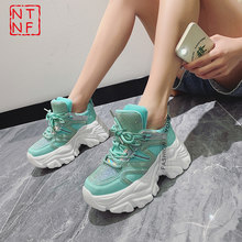 2021 Luxury Sneakers Woman Shoes New Fashion Height Increasing 7cm Ladies Trainers Designer Chunky Sneakers Women Basket Femme