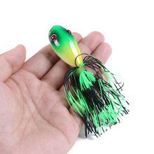 1pcs/ The New Bait frog plastic fishing bait10cm/10g Bass hook top water artificial squid crank strong soft bait Accessorie