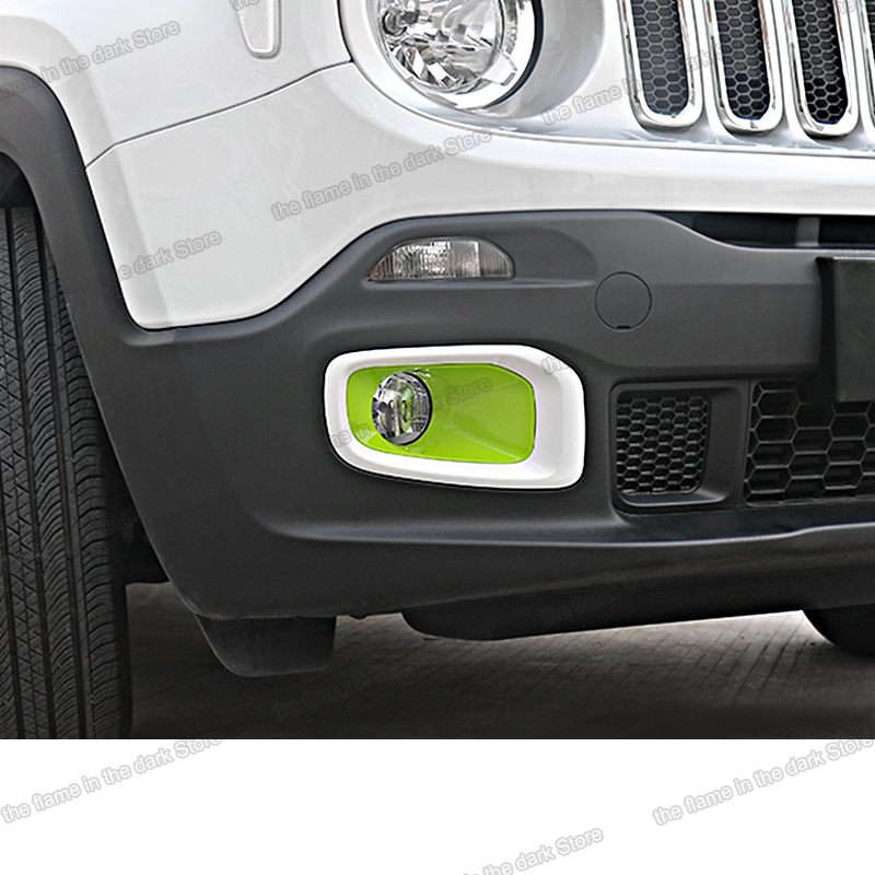 Lsrtw2017 Abs Car Foglight Cover Daytime running Light Trims chrome for Jeep Renegade 2016 2017 2018 2019 auto parts