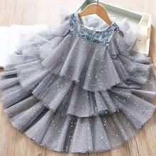 Летние платья для девочек с кружевным плетением и расшитое блестками платье с юбкой-пачкой, Vestidos, детское платье феи, девочки, держащей буке...