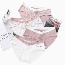5544# 2 PcS/Bag Sexy Printed Cotton Maternity Panties Low Waist V Briefs for Pregnant Women Summer Pregnancy Underwear Lingerie