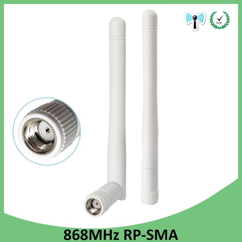 20pcs 868MHz 915MHz Antenna 3dbi RP-SMA Connector GSM 915 MHz 868 MHz Antena Outdoor Signal Repeater Antenne Waterproof Lorawan