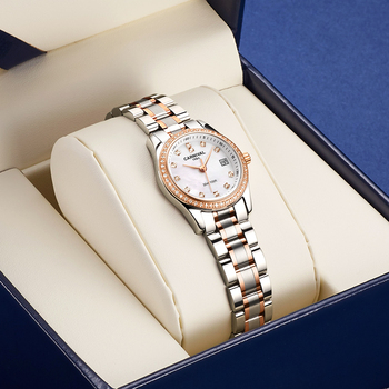 Carnival Quartz l Women's watch Stainless Steel Waterproof date watch women gift for friend - Rose